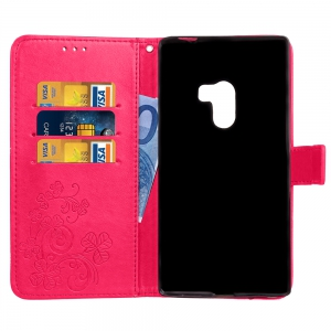 Yc Lucky Clover Holster Leaf Card Lanyard Pu Leather for Xiaomi Mix -