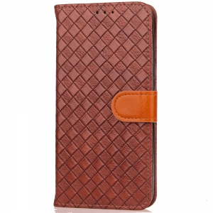 Yc Knit Lines Double Card Lanyard Pu Leather for Samsung S8 -