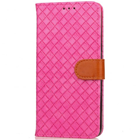 Affordable Yc Knit Lines Double Card Lanyard Pu Leather for Samsung S8