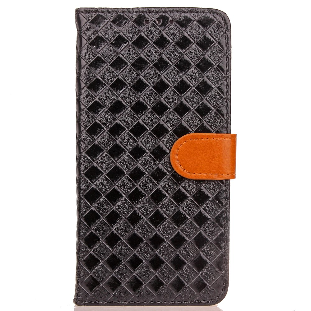 Best Yc Knit Lines Double Card Lanyard Pu Leather for Samsung S8