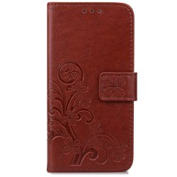 Yc Lucky Clover Holster Leaf Card Lanyard Pu Leather for Samsung A5 -