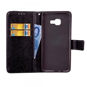 Yc Lucky Clover Holster Leaf Card Lanyard Pu Leather for Samsung A7 -