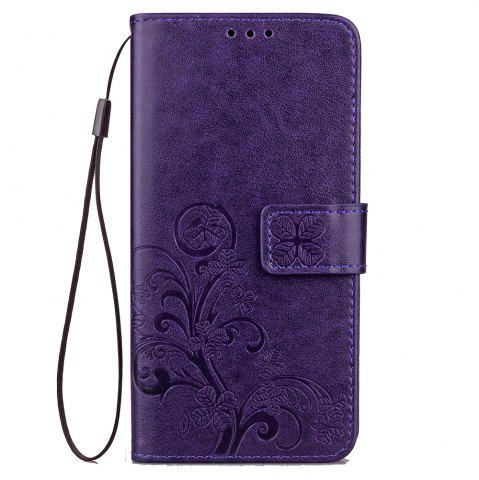 Hot Yc Lucky Clover Holster Leaf Card Lanyard Pu Leather for Samsung C9