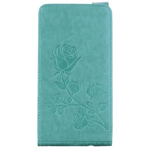 Discount Embossed Rose Flower Pattern Vertical Flip Leather Case with Card Slot for Samsung Galaxy A5 2017 A520
