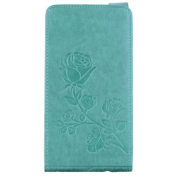 Embossed Rose Flower Pattern Vertical Flip Leather Case with Card Slot for Samsung Galaxy A5 2017 A520 -