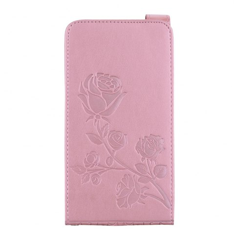 Trendy Embossed Rose Flower Pattern Vertical Flip Leather Case with Card Slot for Samsung Galaxy J3 2016 J310