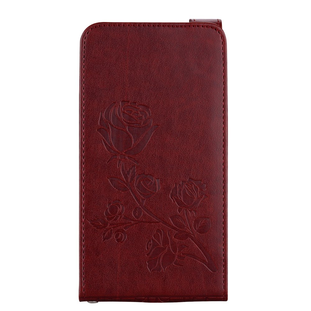 New Embossed Rose Flower Pattern Vertical Flip Leather Case with Card Slot for Samsung Galaxy J3 2016 J310