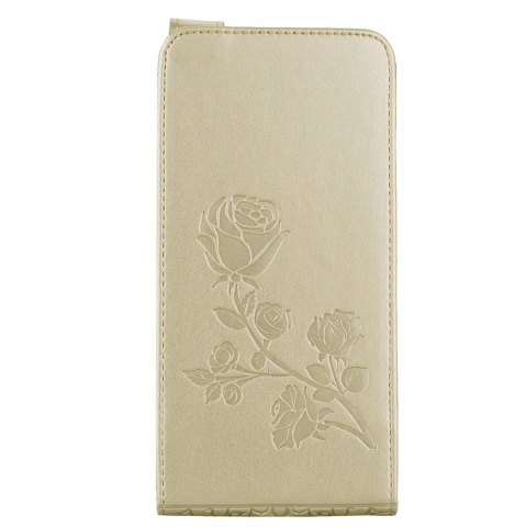 Trendy Embossed Rose Flower Pattern Vertical Flip Leather Case with Card Slot for Huawei P8 Lite 2017