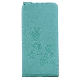 Embossed Rose Flower Pattern Vertical Flip Leather Case with Card Slot for Huawei P8 Lite 2017 -