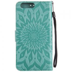 Sun Flower Printing Design Pu Leather Flip Wallet Lanyard Protective Case for Oneplus 5 -