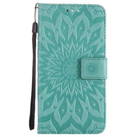 New Sun Flower Printing Design Pu Leather Flip Wallet Lanyard Protective Case for Oneplus 5