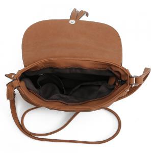 Ruffle Rivets Crosbody Saddle Bags -