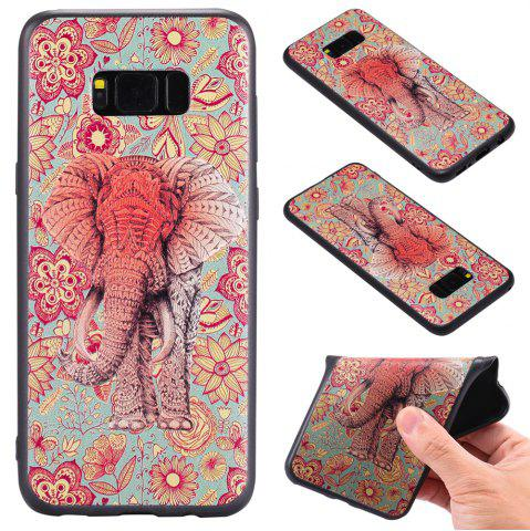 Outfit 3D Embossed Color Pattern TPU Soft Back Case for Samsung Galaxy S8 Plus