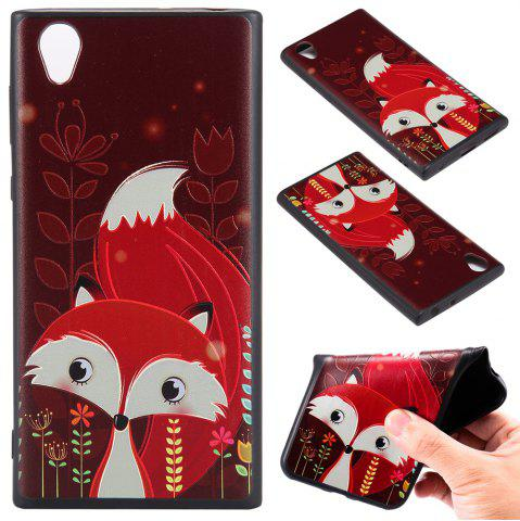 Affordable 3D Embossed Color Pattern TPU Soft Back Case for Sony Xperia L1