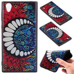 3D Embossed Color Pattern TPU Soft Back Case for Sony Xperia L1 -