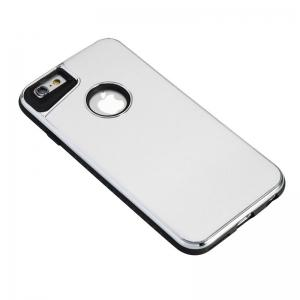 Two-In-One Tpu + Aluminum Alloy Plating Scrub Phone Case for Iphone 6 6S -