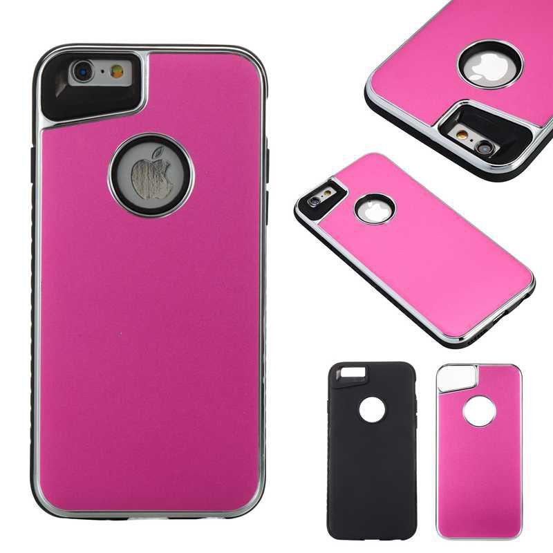 Online Two-In-One Tpu + Aluminum Alloy Plating Scrub Phone Case for Iphone 6 6S