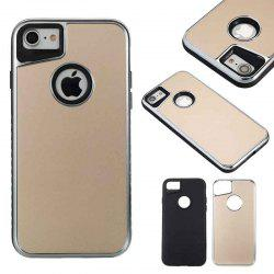 Two-In-One Tpu + Aluminum Alloy Plating Scrub Phone Case for Iphone 7 Iphone 8 -