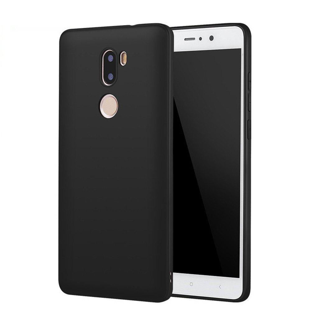 Anti-Fingerprint Phone Case for Xiaomi 5S Plus TpuHOME<br><br>Color: BLACK;