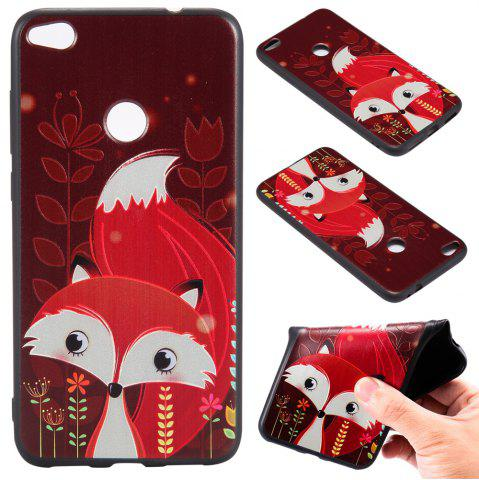 Shop 3D Embossed Color Pattern TPU Soft Back Case for Huawei P8 Lite 2017
