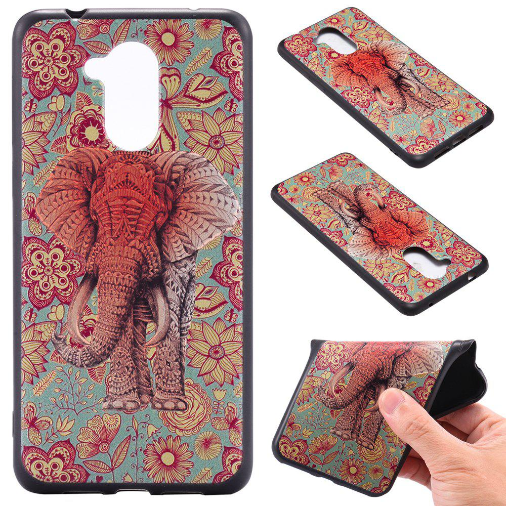 Trendy 3D Embossed Color Pattern TPU Soft Back Case for Huawei Honor 6S