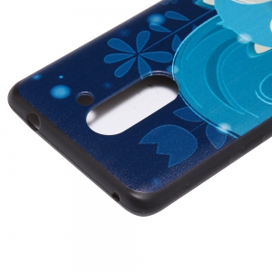 3D Embossed Color Pattern TPU Soft Back Case for Huawei Honor 6X -