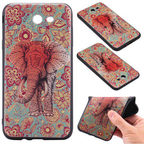 Best 3D Embossed Color Pattern TPU Soft Back Case for Samsung Galaxy J7 2017 (America Edition)