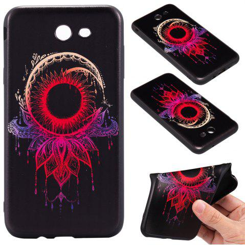 Fancy 3D Embossed Color Pattern TPU Soft Back Case for Samsung Galaxy J7 2017 (America Edition)