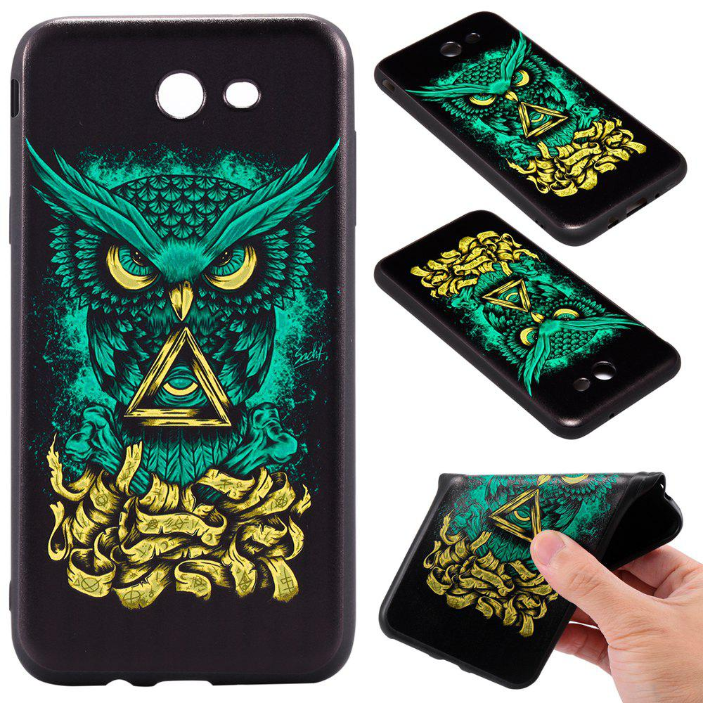 Fashion 3D Embossed Color Pattern TPU Soft Back Case for Samsung Galaxy J7 2017 (America Edition)