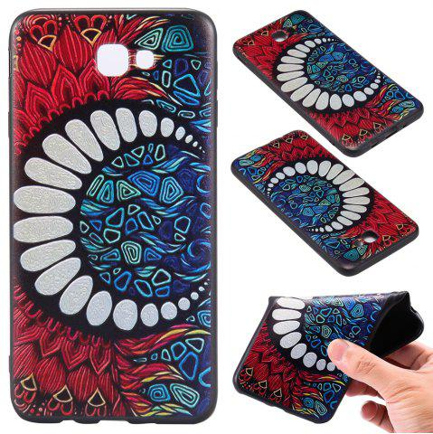 Hot 3D Embossed Color Pattern TPU Soft Back Case for Samsung Galaxy J7 Prime
