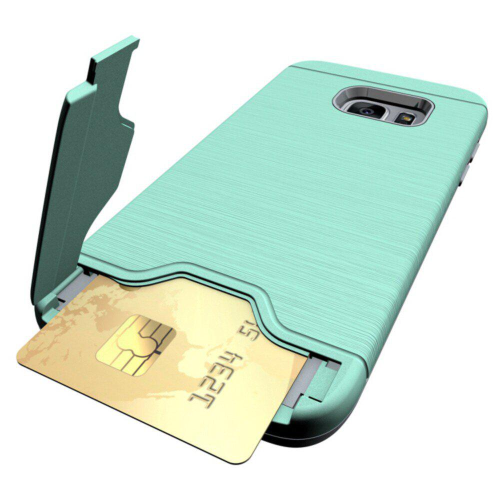 Shockproof Convenient One Card Slot Hard Back Case for Samsung Galaxy S7 EdgeHOME<br><br>Color: GREEN;