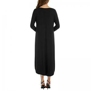 Long Sleeves Round Neck Dress -