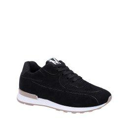 Solid Color Lace-Up Sport Shoes -