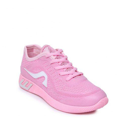 Chic Breathable Solid Color Athletic Shoes PINK 40