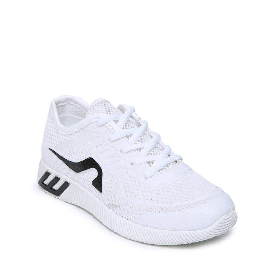 Trendy Breathable Solid Color Athletic Shoes