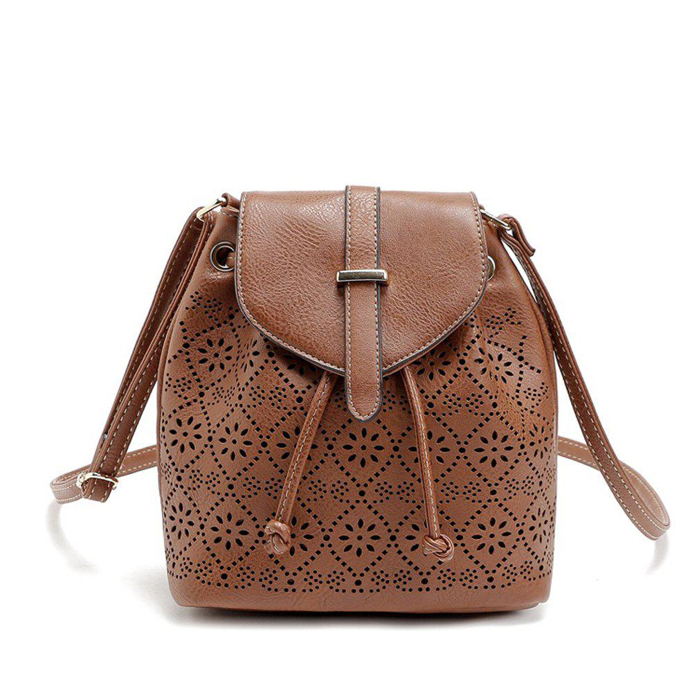2017 New Designer Fashion High Quality Pu Leather Bags Hollow Out Crossbody Shoulder Bag Women Bucket Bag Messenger Bags 228509001