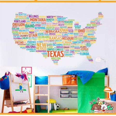 Colorful creative world map english alphabet color home decoration outfit creative world map english alphabet color home decoration wall stickers gumiabroncs Image collections