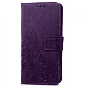 Yc Lucky Clover Holster Leaf Card Lanyard Pu Leather Case for Samsung S6 Edge -