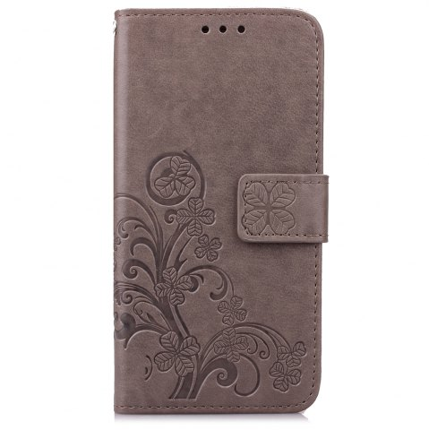 Discount Yc Lucky Clover Holster Leaf Card Lanyard Pu Leather Case for Samsung S6 Edge