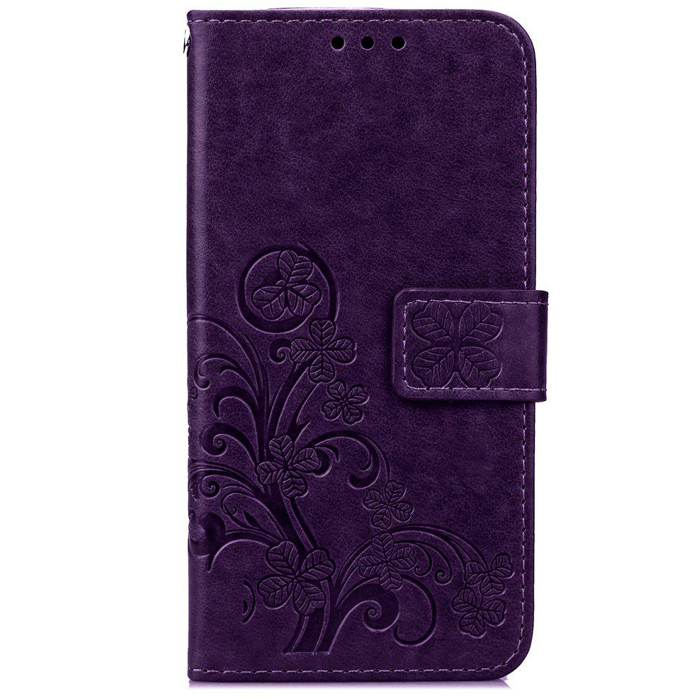 Online Yc Lucky Clover Holster Leaf Card Lanyard Pu Leather Case for Samsung S6 Edge