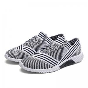 Lace-Up Striped Sport Shoes - WHITE 39