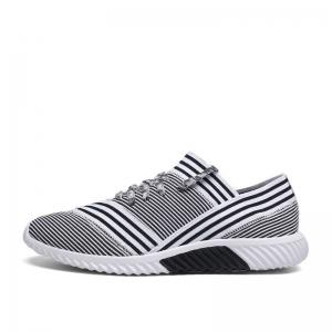Lace-Up Striped Sport Shoes - WHITE 40