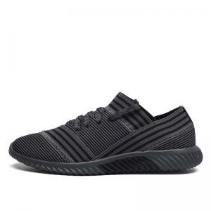 Lace-Up Striped Sport Shoes - GRAY 40
