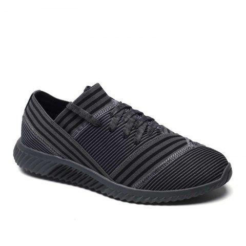 Fashion Lace-Up Striped Sport Shoes GRAY 40
