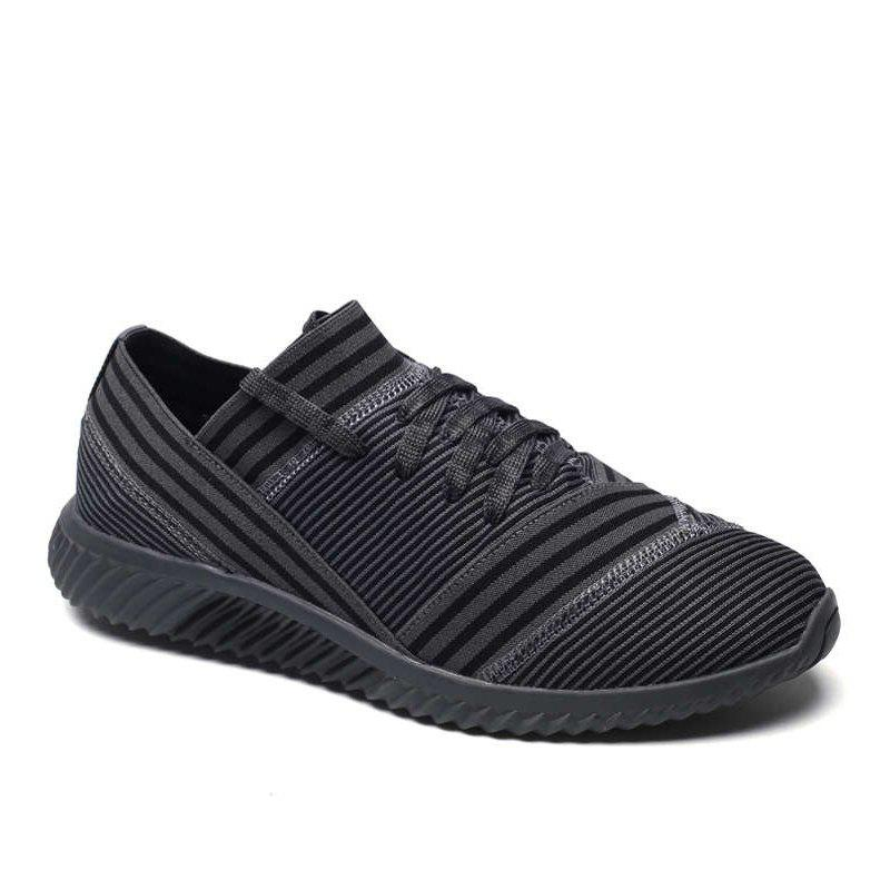 Hot Lace-Up Striped Sport Shoes