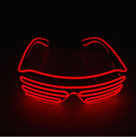 Online YouOKLight DC 3V 3 Modes Sound Control Flash El LED Glasses Luminous Party Lighting Colorful Glowing Classic Toys for Dance DJ Party Mask 1PC RED