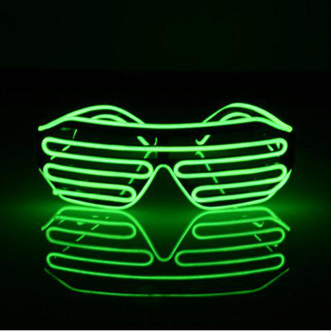 Discount YouOKLight DC 3V 3 Modes Sound Control Flash El LED Glasses Luminous Party Lighting Colorful Glowing Classic Toys for Dance DJ Party Mask 1PC GREEN