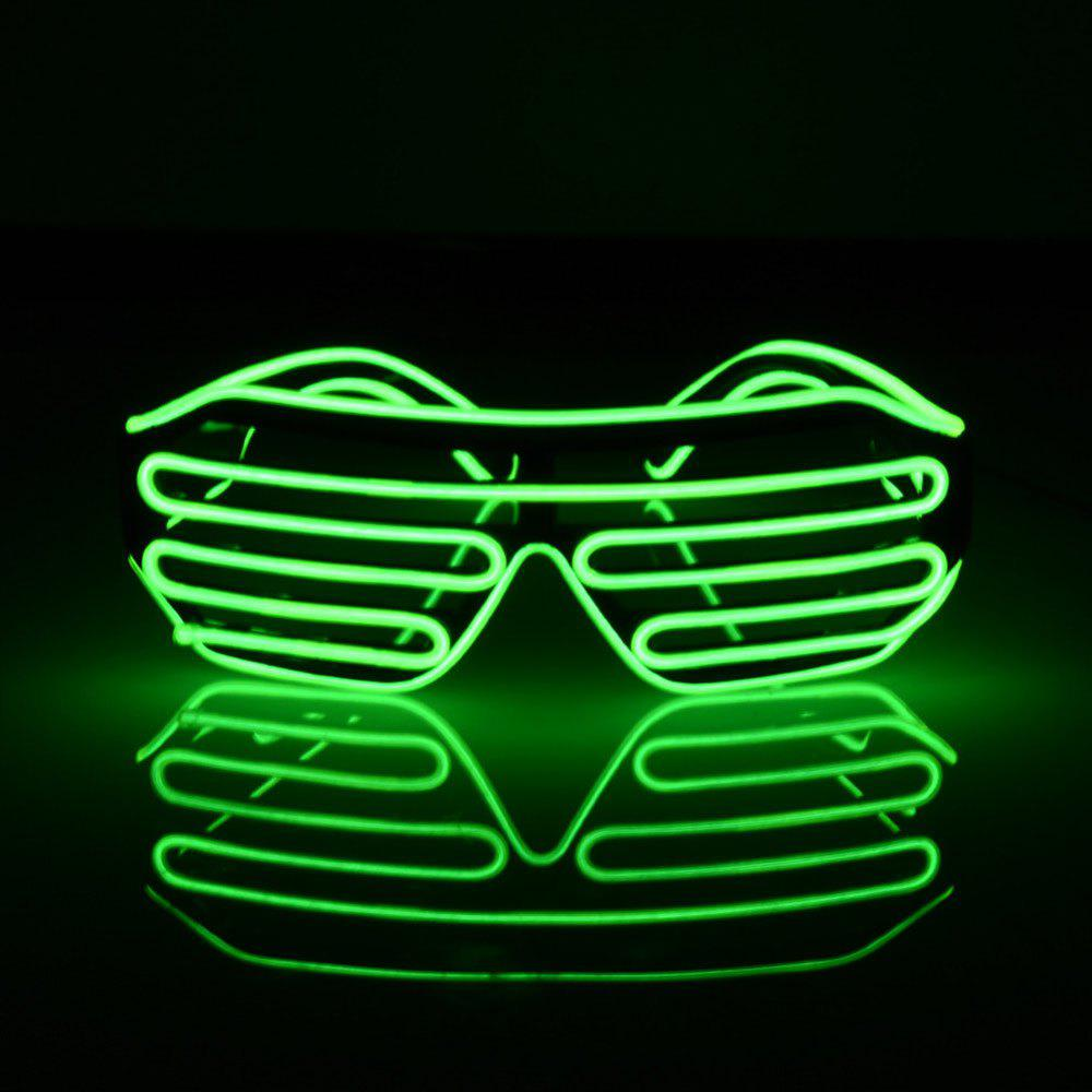 YouOKLight DC 3V 3 Modes Sound Control Flash El LED Glasses Luminous Party Lighting Colorful Glowing Classic Toys for Dance DJ Party Mask 1PCHOME<br><br>Color: GREEN; Brand: YouOKLight; Holder: Other; Output Power: 3W; Voltage (V): 3V; Color Temperature or Wavelength: 501 - 540nm; Features: Easy to use,Energy Saving; Function: Home Lighting; Available Light Color: Green; Sheathing Material: PVC;