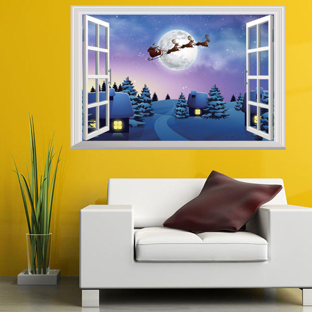 Personalized Christmas Windows 3D Decorative Wall StickersHOME<br><br>Color: COLORMIX;
