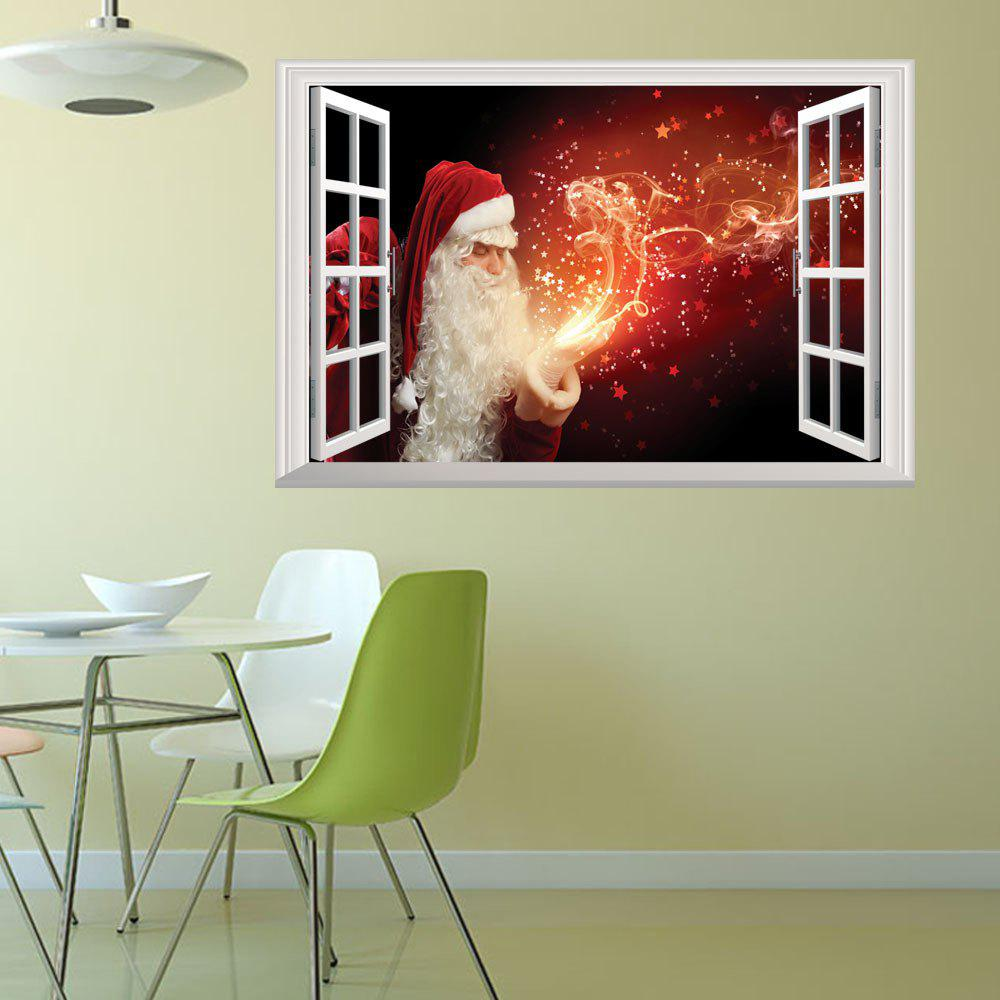 Creative Christmas Old Man Fireworks 3D Home Decoration Wall StickersHOME<br><br>Color: COLORMIX;